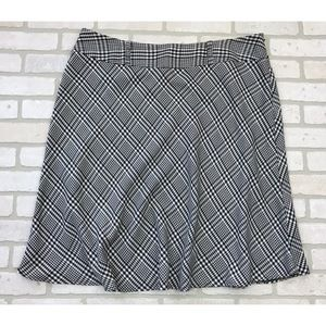 Houndstooth Print A Line Skirt Size 18